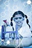 Sammansatt bild av vetenskapsdiagrammet Royaltyfri Fotografi