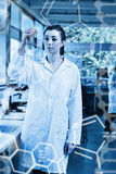 Sammansatt bild av vetenskapsdiagrammet Royaltyfri Foto