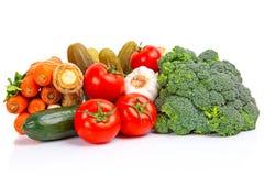 Sammansättning av rå grönsaker Arkivfoto
