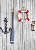 Sammansättning på det marin- temat Royaltyfri Foto