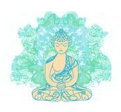 Sammanträde buddha Fotografering för Bildbyråer