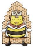 Sammanträde för drottningbi på honungskakabiskopsstolen Royaltyfria Bilder