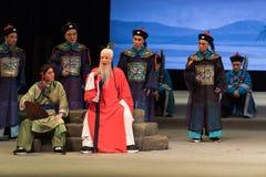"""Sammanträdepontificating-Shanxi Operatic""""Fu Shan till Beijing† Royaltyfri Bild"""