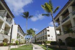 Sammelerholungsort und Kasino Royalton, die beim Bavaro gelegen ist, setzen in Punta Cana auf den Strand Stockfotos