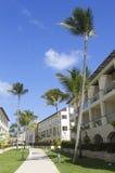 Sammelerholungsort und Kasino Royalton, die beim Bavaro gelegen ist, setzen in Punta Cana auf den Strand Lizenzfreies Stockbild