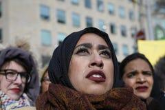 Sammeln Sie gegen Donald Trump-` s moslemisches Verbot in Toronto Lizenzfreie Stockbilder