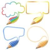 Sammeln Sie Sprache-Blase Stockbild