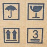 Sammelpackhintergrund mit Postsymbolen stockbild