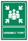 Sammelpunkt-Symbol-Zeichen, Vektor-Illustration, lokalisiert auf wei?em Hintergrund-Aufkleber EPS10 stock abbildung