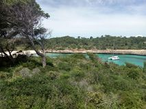 Sammer at the mare nostrum. Mediterranean sea with forest water sun paradise Stock Images