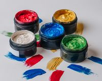 Sammlung abstrakte Acrylbürstenanschläge Lizenzfreie Stockfotografie