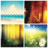 Sammlung abstrakte geometrische bunte Hintergründe Lizenzfreie Stockfotografie