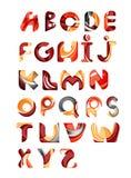 Sammlung Alphabetbuchstabe-Logodesign Stockfotos