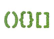Sammlung Alphabetkurzzeichen von der Entengrütze Stockbild