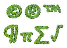 Sammlung Alphabetkurzzeichen von der Entengrütze Lizenzfreie Stockfotos