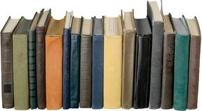 Sammlung alte Bücher auf Hintergrund Lizenzfreie Stockfotos