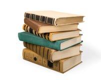 Sammlung alte Bücher auf Hintergrund Stockfoto