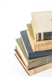 Sammlung alte Bücher auf Weiß Lizenzfreies Stockfoto