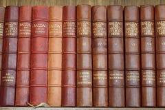 Sammlung alte Bücher durch Balzac Lizenzfreie Stockfotos