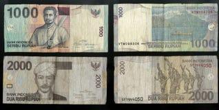 Sammlung alte Banknoten der Zentralstaat-Bank der Republik Indonesien Stockbild