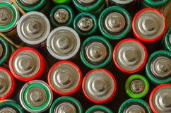 Sammlung alte Batterien Stockbilder