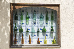 Sammlung alte Glasflaschen Lizenzfreie Stockfotografie