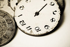 Sammlung alte Uhrskala Lizenzfreie Stockbilder