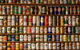 Sammlung altes Bier Lizenzfreie Stockfotos