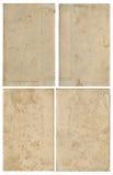 Sammlung altes Weinlesebuchpapier Lizenzfreie Stockfotos
