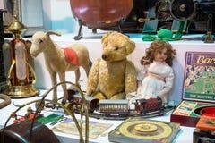 Sammlung antike Spielwaren Lizenzfreies Stockbild