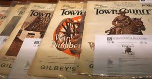 Sammlung ` australische Stadtlandzeitschrift ` Zeitschriften im antiken Druckspeicher Vom Anfang 1900 s lizenzfreies stockfoto
