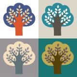 Sammlung Bäume Stockbild