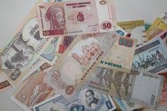 Sammlung Banknoten von verschiedenen Ländern Lizenzfreies Stockbild
