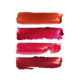 Sammlung befleckte Lippenstifte Stockfoto