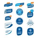 Logo gefrorene Meeresfrüchte Lizenzfreies Stockfoto