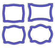 Sammlung blaue Rahmen Lizenzfreies Stockbild