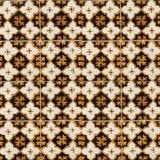 Sammlung braune und gelbe Musterfliesen Stockbild
