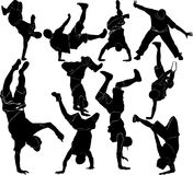 Sammlung breakdance Stockfotos