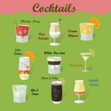 Sammlung Cocktails Lizenzfreie Stockfotografie