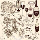 Sammlung der dekorativen Hand des Vektors gezeichnet lizenzfreie abbildung