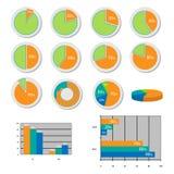 Sammlung der Diagramme Lizenzfreie Stockbilder