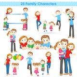 Sammlung der Familien-3d Stockbild