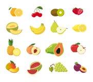 Sammlung der frischen Frucht für Sommerzeit lizenzfreie abbildung