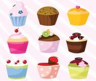 Sammlung der kleinen Kuchen Stockfoto