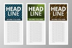 Sammlung der modernen Textbox für Netz, APP, Zeitschrift usw. Rand der Farbband-, Lorbeer- und Eichenblätter lizenzfreie stockfotografie