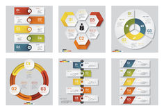 Sammlung der Schablone mit 6 Designen/des Grafik- oder Websiteplans Es kann für Leistung der Planungsarbeit notwendig sein Stockfotos