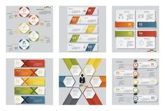 Sammlung der Schablone mit 6 Designen/des Grafik- oder Websiteplans Es kann für Leistung der Planungsarbeit notwendig sein Lizenzfreie Stockfotos