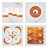 Sammlung der Schablone mit 4 Orangen Farb/des Grafik- oder Websiteplans Es kann für Leistung der Planungsarbeit notwendig sein Stockfotografie