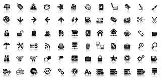 Sammlung der schwarzen Netzikone Lizenzfreie Stockbilder