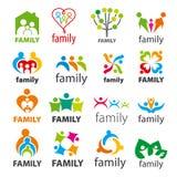 Sammlung der Vektorlogofamilie Lizenzfreies Stockfoto